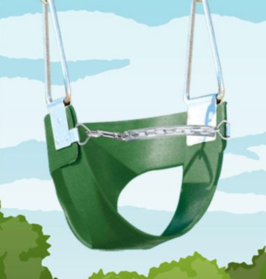 Belted Toddler Swing with Rope