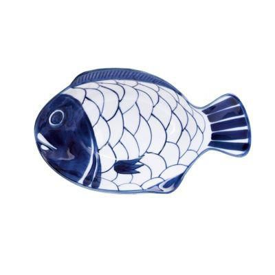 Arabesque Small Fish Platter - Blue/White