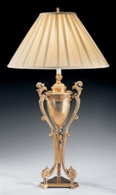 Antique Solid Brass Lamp with Tripod Base