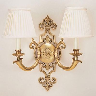 Antiqued Brass 2-Light Sconce