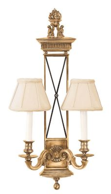Antique Brass 2-Light Sconce