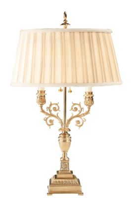 Antiqued Brass 2-Light Lamp