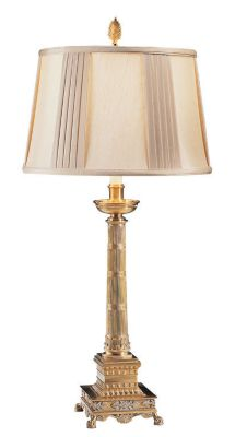 Antiqued Brass Lamp