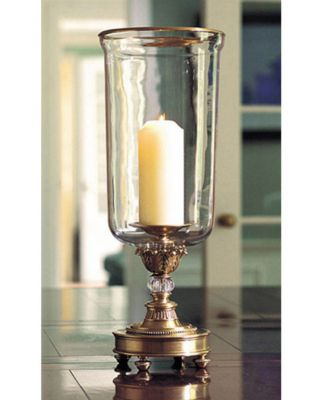 Antique Brass Hurricane Lamp