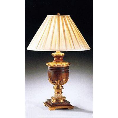 Antique Brass and Wood Lamp