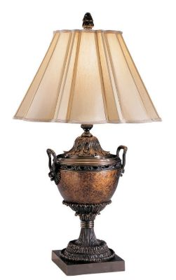 Lamp with Bronze Trim - Antique Crackle Gold