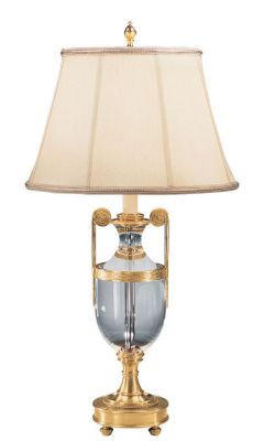 Antique Brass and Solid Crystal Lamp