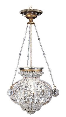 19th Century Florentine Style Crystal 1-Light Chandelier