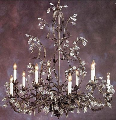 Hand-Crafted Crystal 10-Light Chandelier