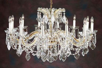 Maria Theresa Style Crystal 12-Light Chandelier