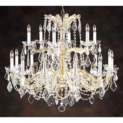 Hand-Crafted Crystal 18-Light Chandelier