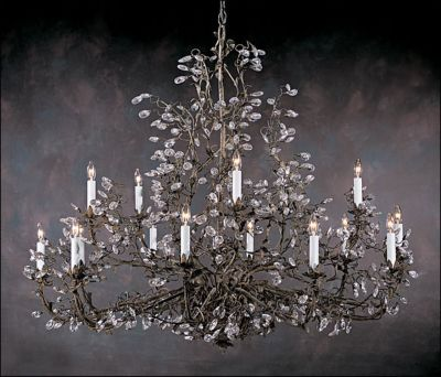 Hand-Crafted Crystal 12-Light Chandelier