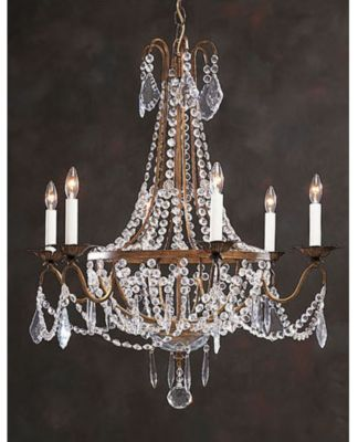 Hand-Crafted Crystal 6-Light Chandelier