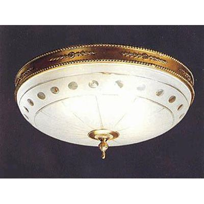 Hand Crafted Solid Cast Brass Round Ceiling Light - French Gold