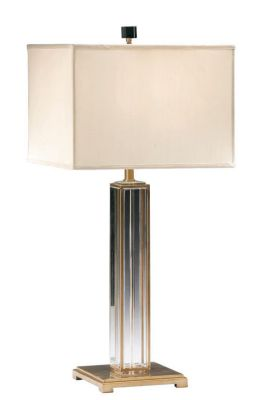 Solid Crystal and Antique Brass Lamp