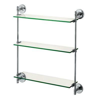 Glass-Tempered-Essentials Premier 3-Tier Adjustable Shelf - Chrome