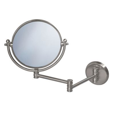 Lavatory Swing Wall Mirror - Satin Nickel