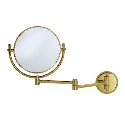 Premier Lavatory Swing Wall Mirror - Brass
