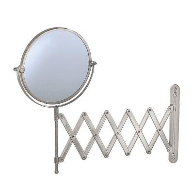 Premier Lavatory Accordion Wall Mirror - Satin Nickel