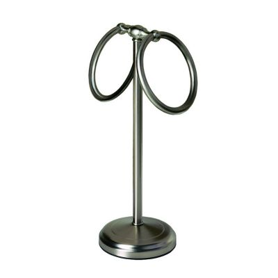 Vanity Essentials Countertop Towel Ring - Satin Nickel
