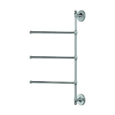 Spa Towel Wall Mount 3-Arm Swivel Towel Bar - Chrome