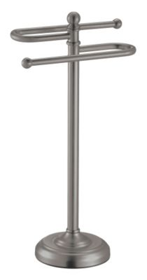 Vanity Essentials S-Style Towel Stand - Satin Nickel