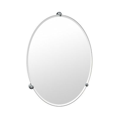 Gallery Oldenburg Frameless Oval Mirror - Chrome