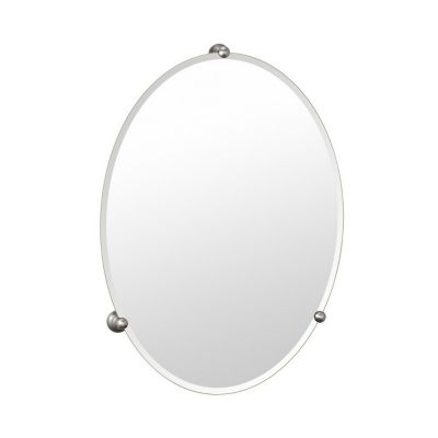 Gallery Oldenburg Frameless Oval Mirror - Satin Nickel
