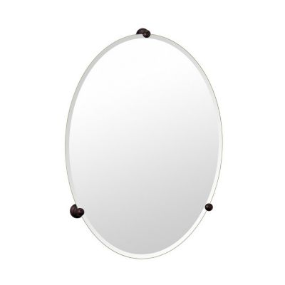 Gallery Oldenburg Classic Frameless Oval Mirror - Bronze