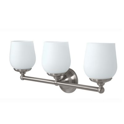 Gallery Oldenburg 3-Light Bath Bar - Satin Nickel