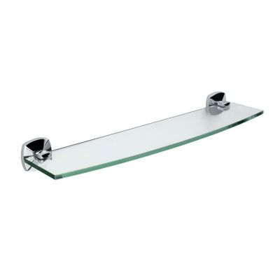 Jewel Glass Shelf - Chrome