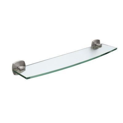 Jewel Glass Shelf - Satin Nickel