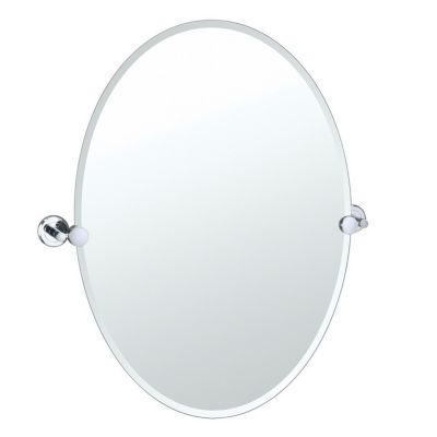 Latitude² Oval Mirror with Brackets - Chrome