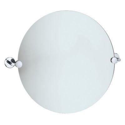Latitude² Round Mirror with Brackets - Chome