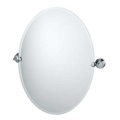 Tiara Oval Beveled Mirror & Brackets - Chrome