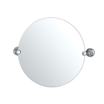 Tiara Round Mirror & Brackets - Chrome
