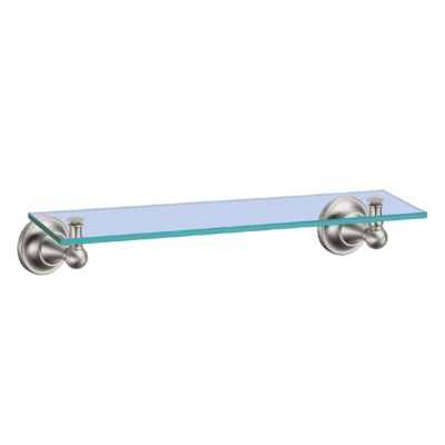 Tiara Glass Shelf - Satin Nickel