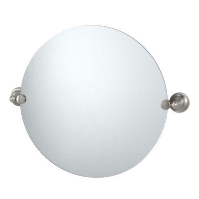 Tiara Round Mirror & Brackets - Satin Nickel