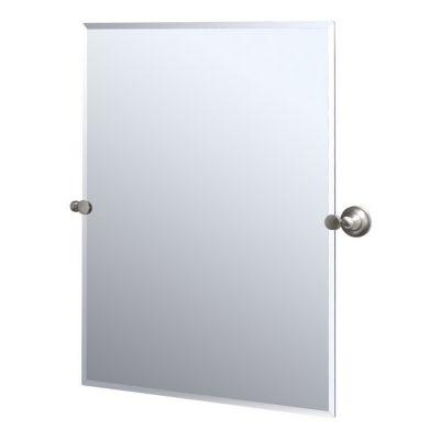 Tiara Rectangular Beveled Mirror & Brackets- Satin Nickel