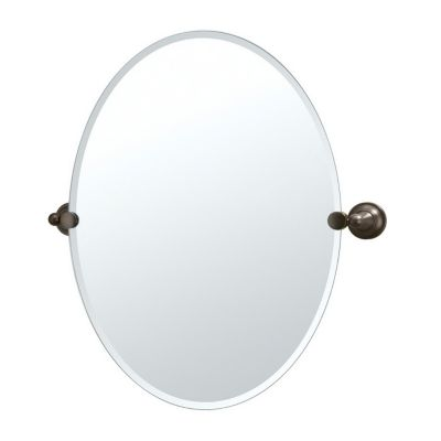 Tiara Oval Beveled Mirror & Brackets - Bronze
