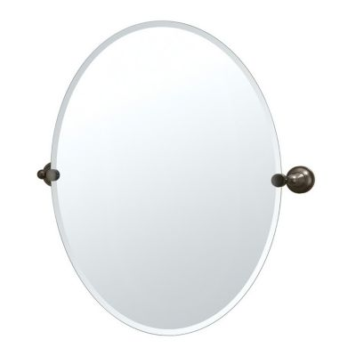 Tiara Large Oval Beveled Mirror & Brackets - Bronze