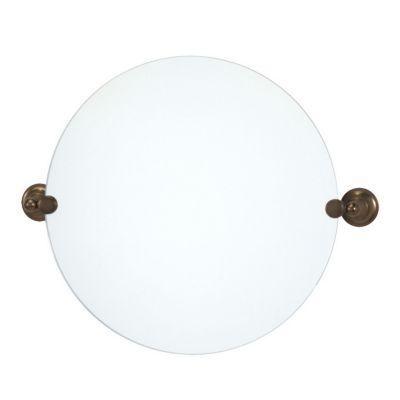 Tiara Round Mirror  & Brackets - Bronze