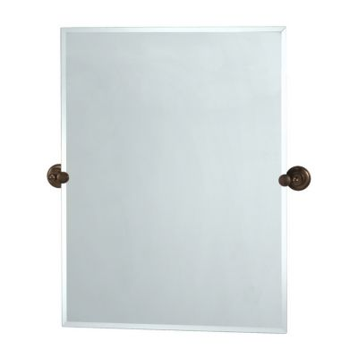 Tiara Rectangular Beveled Mirror & Brackets - Bronze