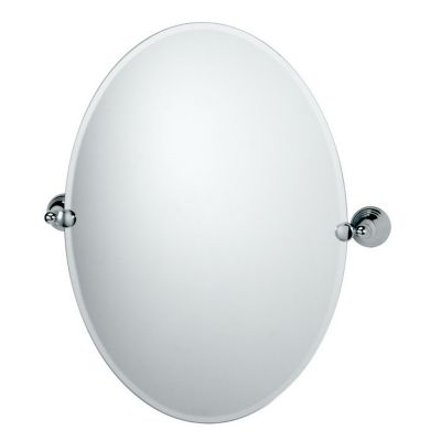 Charlotte Oval Tilting Mirror with Brackets - Chrome