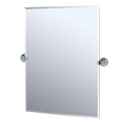 Charlotte Rectangular Tilting Mirror with Brackets - Chrome