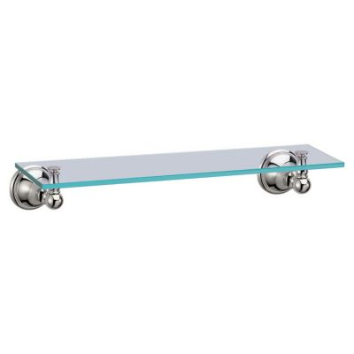 Laurel Avenue Glass Shelf - Polished Nickel