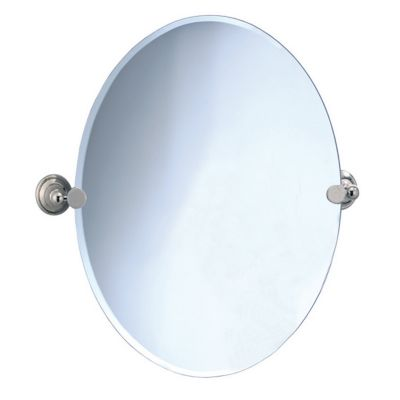 Laurel Avenue Oval Tilting Mirror - Polished Nickel