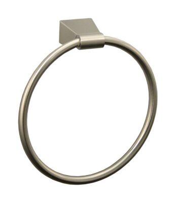 Bleu Towel Ring - Satin Nickel