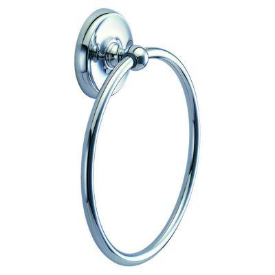 Designer II Towel Ring - Chrome