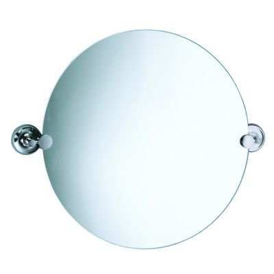 Designer II Round Mirror & Brackets - Chrome
